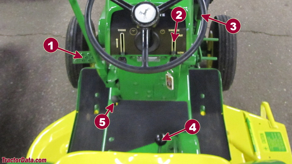 John Deere 110 transmission controls