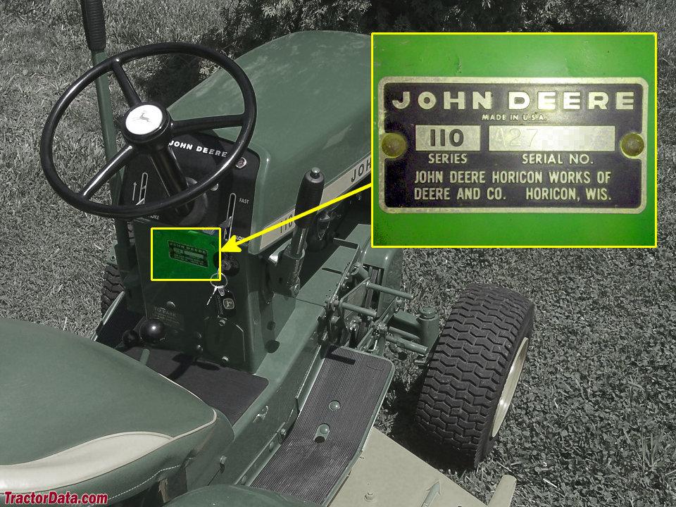 1965 John Deere 110 Garden Tractor Parts | Fasci Garden