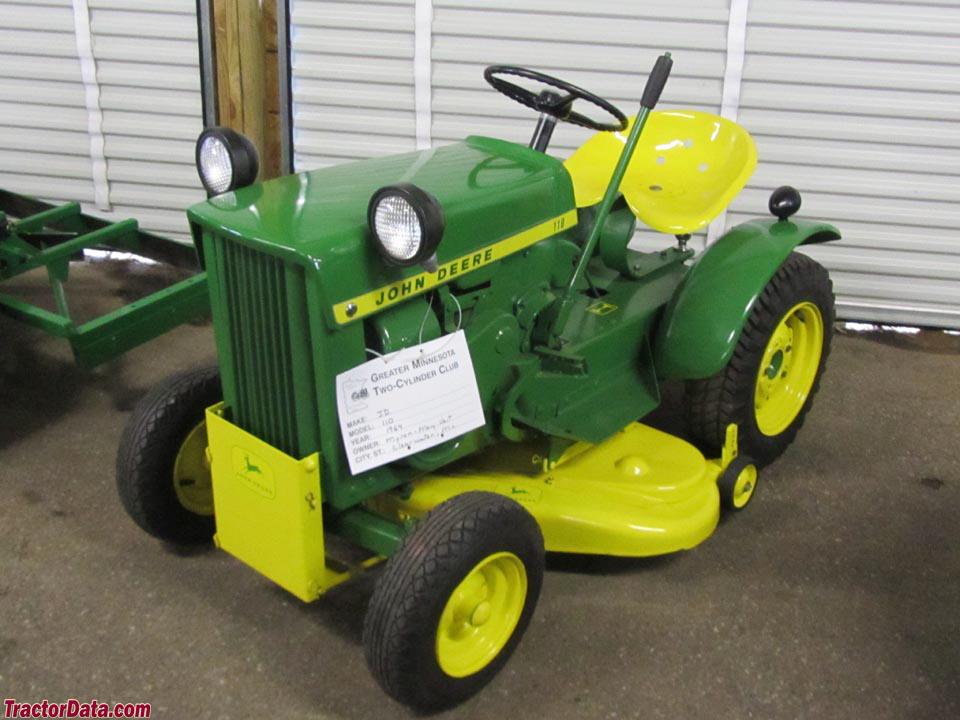 TractorData.com John Deere 110 tractor photos information