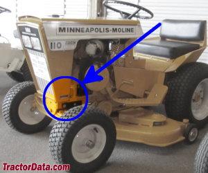 Minneapolis-Moline 110 serial number location