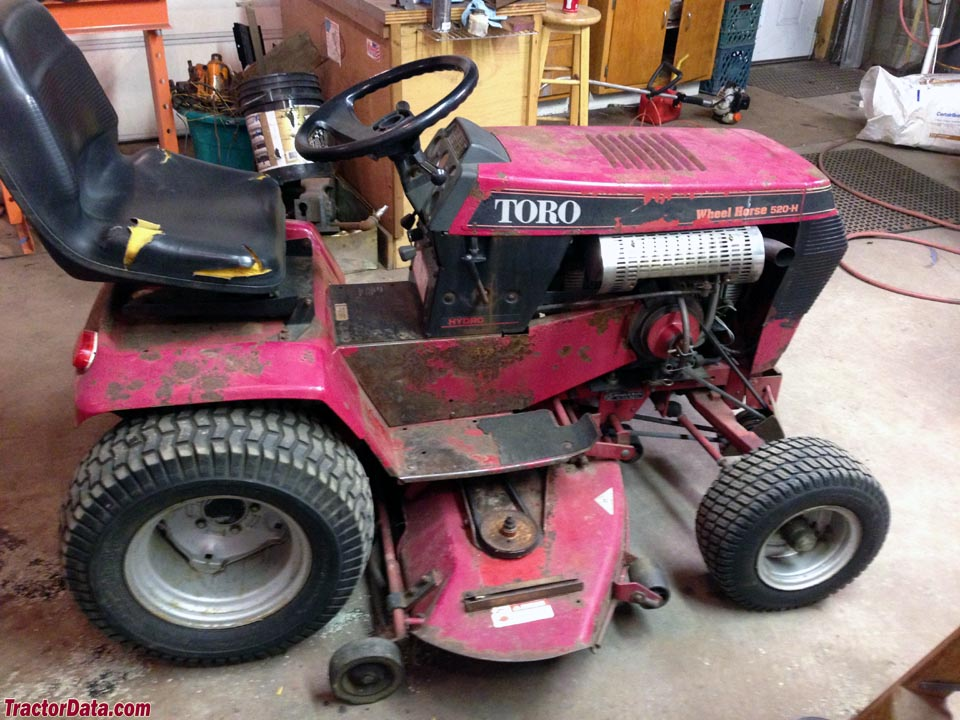 Toro 520-H with mower deck, right side.
