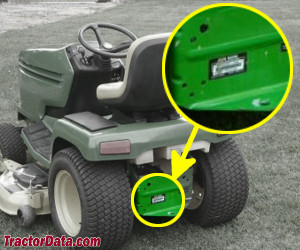 John Deere GX325 serial number location