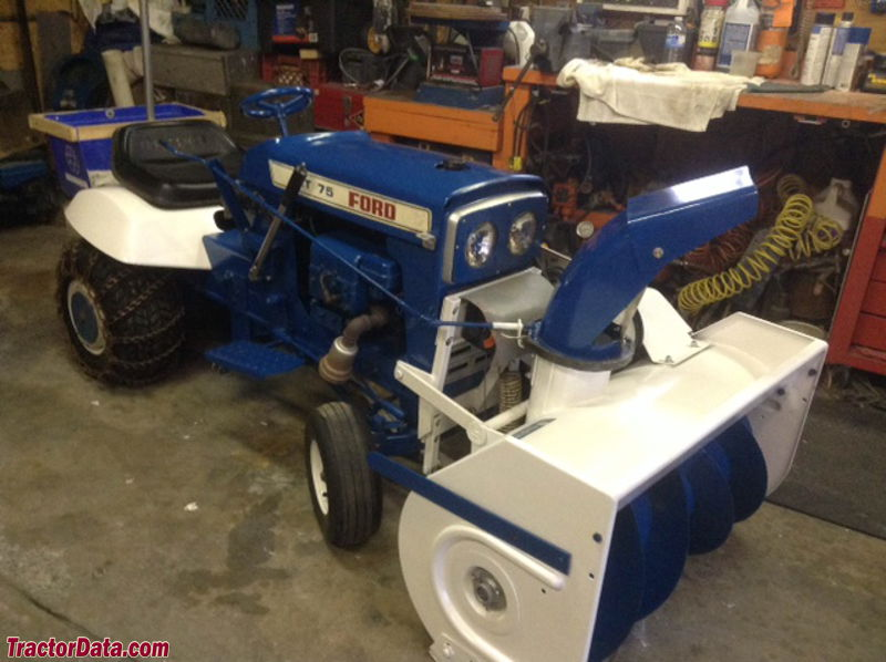 Ford LT-75 with snowblower.