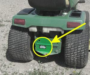 John Deere GX345 serial number location