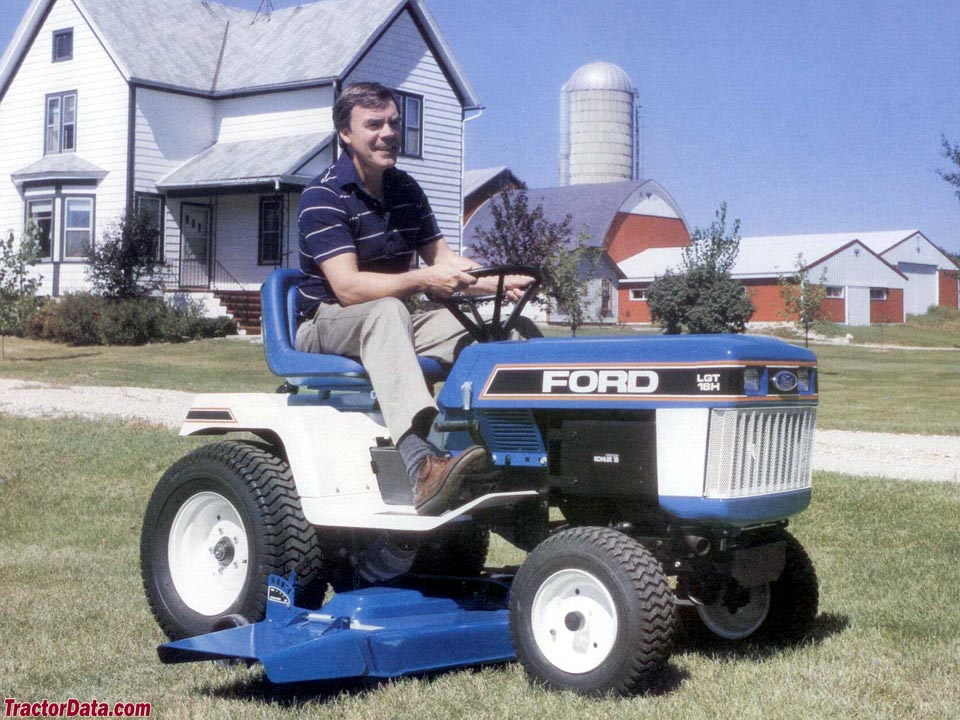 Ford LGT-18H with mower.