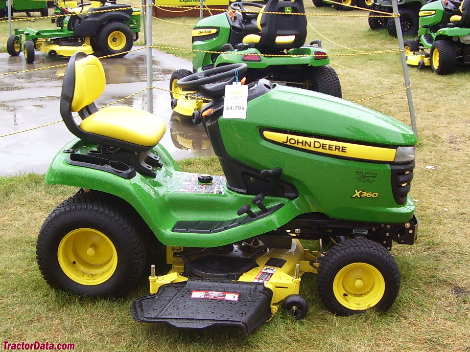 John Deere X360 right-side profile