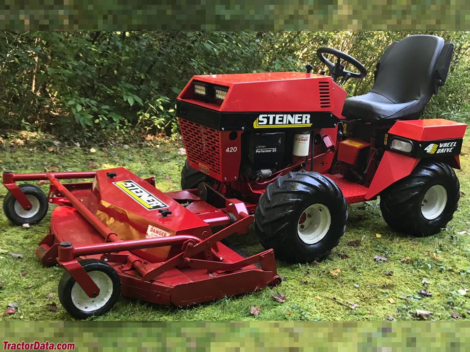 Steiner 420 with mower deck.