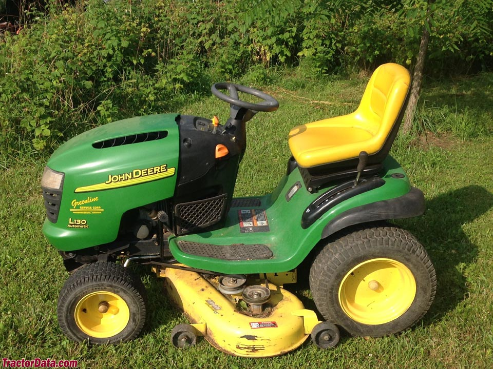 John Deere L130, left side.