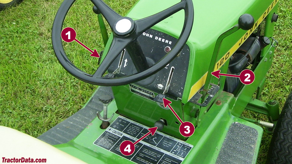 John Deere 120 transmission controls