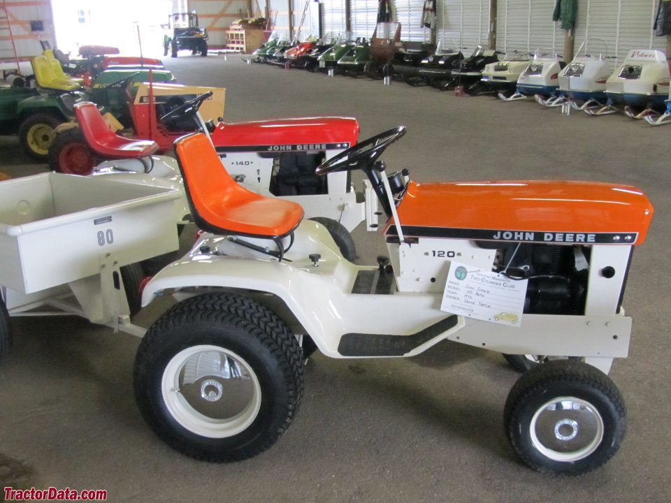 Patio series John Deere 120 in orange with 80 cart