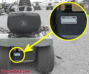 John Deere LX172 serial number location
