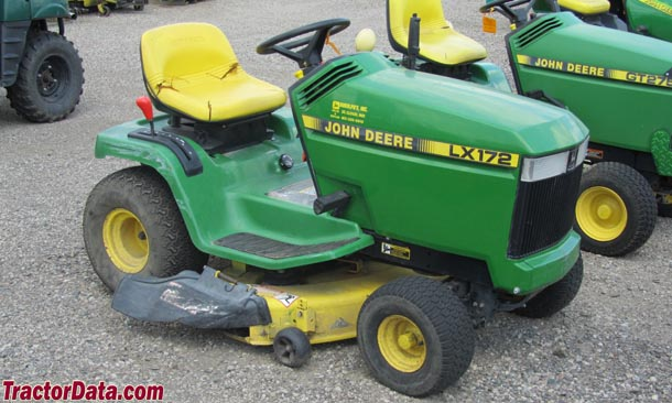 "TractorData.com John Deere LX172 tractor information on john deere tractor wiring, john deere power beyond diagram, john deere 212 diagram, john deere fuse box diagram, john deere voltage regulator wiring, john deere starters diagrams, john deere chassis, john deere 345 diagram, john deere gt235 diagram, john deere repair diagrams, john deere fuel system diagram, john deere rear end diagrams, john deere sabre mower belt diagram, john deere 3020 diagram, john deere riding mower diagram, john deere 310e backhoe problems, john deere cylinder head, john deere 42"" deck diagrams, john deere fuel gauge wiring, john deere electrical diagrams,"