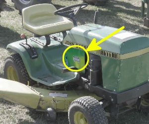 John Deere 111 serial number location