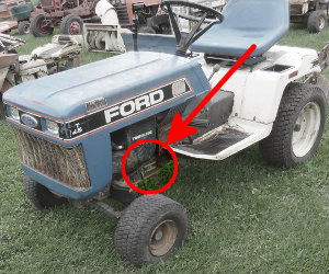 Ford YT-12.5 serial number location