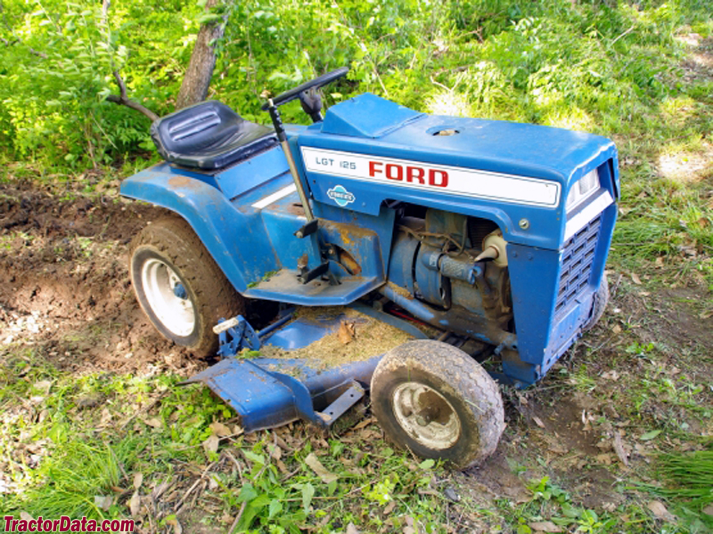 Ford LGT-125 with mower deck.