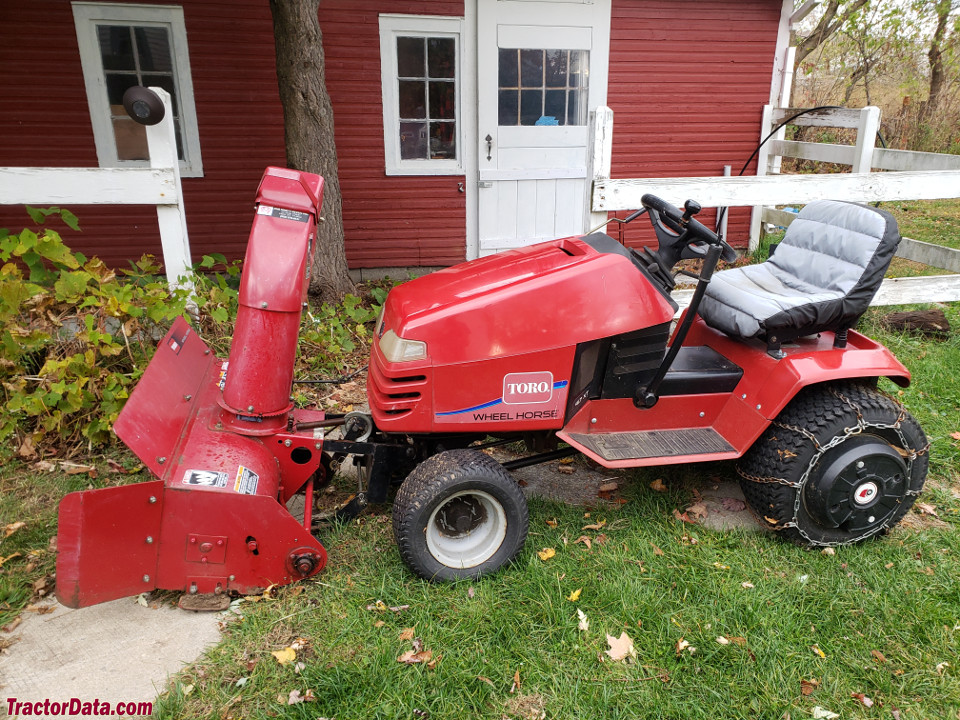 Toro Wheel Horse 417XT with snow blower.
