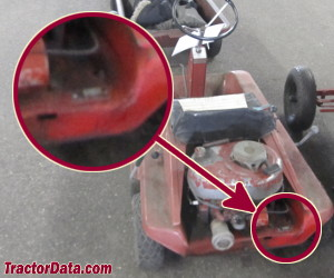 Wheel Horse Reo-matic 6 serial number location