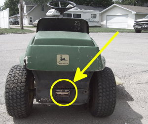 John Deere 68 serial number location