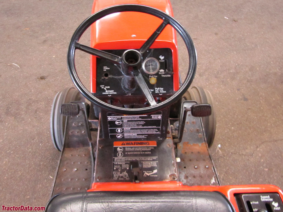 Ariens GT17 operator station and controls.
