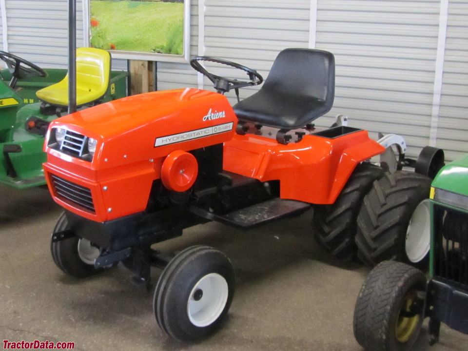 Ariens S-14H with plow and duals, left side.