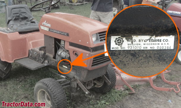 TractorData.com Ariens S-16H tractor information on