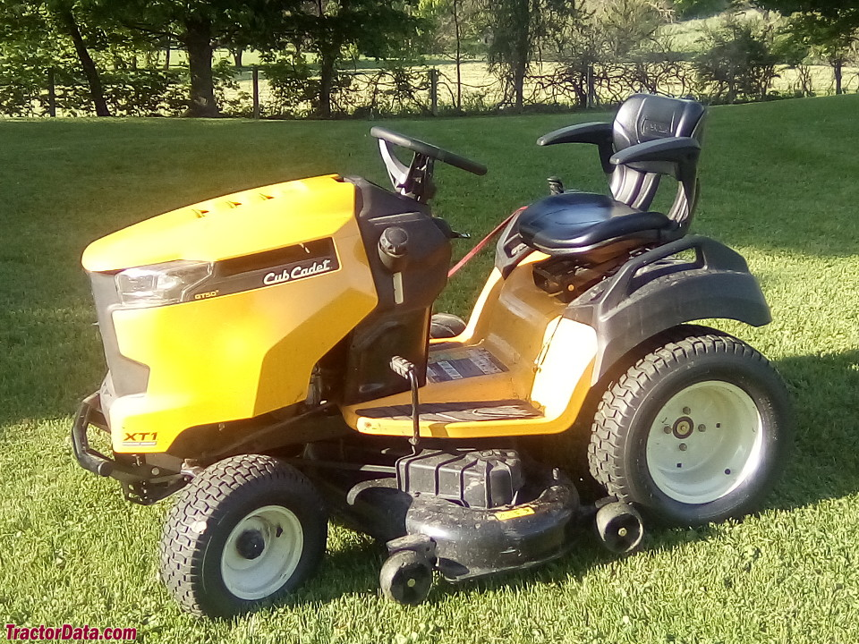 Cub Cadet XT1 GT50 with mower deck.