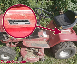 Wheel Horse 211-5 serial number location