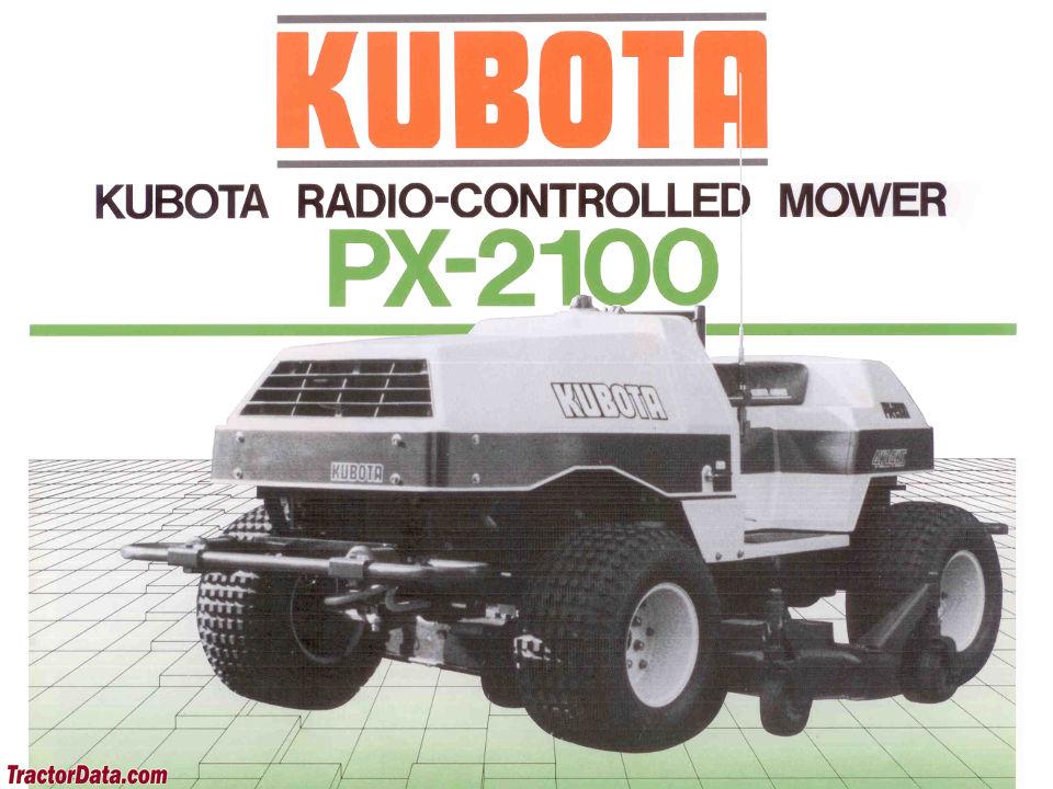 Kubota PX-2100 RC Mower sales image.