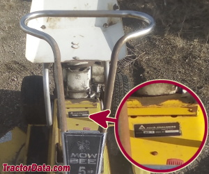 Allis Chalmers Mow-Bee 5 serial number location