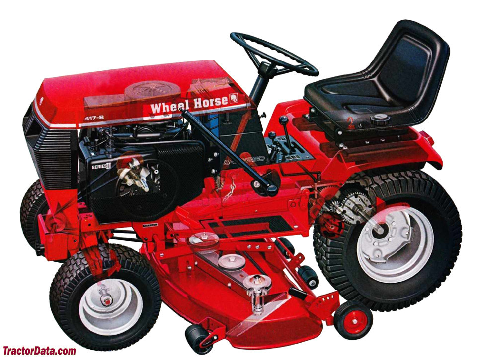 Wheel Horse 417-A with plow.