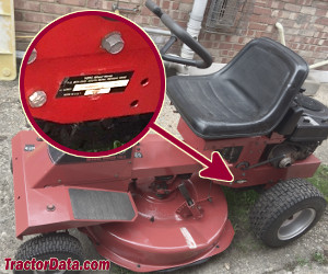 Wheel Horse 110-4 serial number location