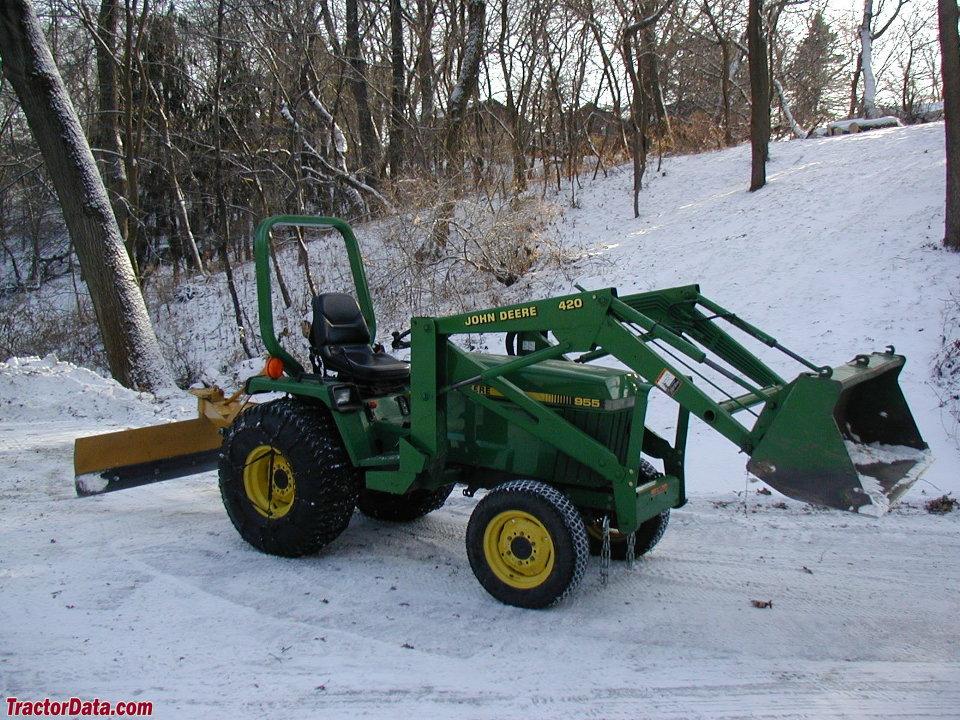 John Deere 955 tractor with model 420 loader.