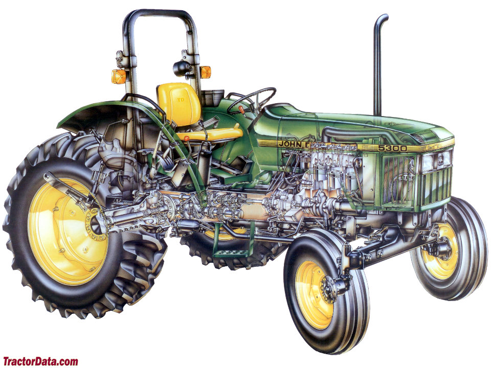 John Deere 5300 cutaway diagram.