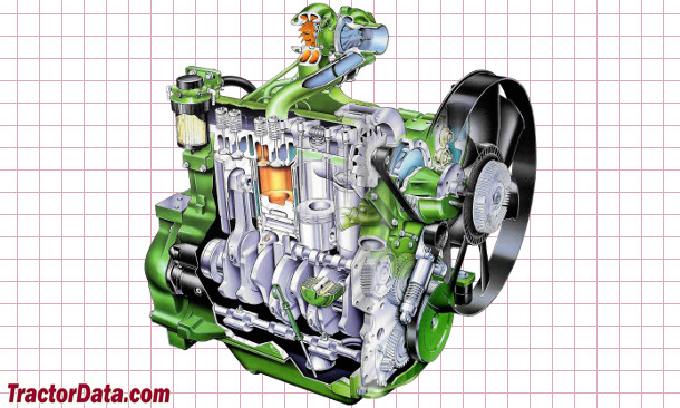John Deere 6300  engine photo