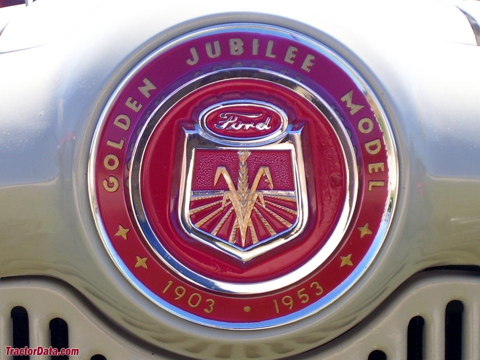 Hood badge on the 1953 Ford Golden Jubilee