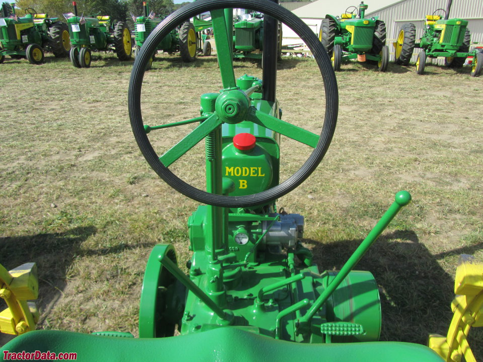 Unstyled John Deere B operator station and controls.