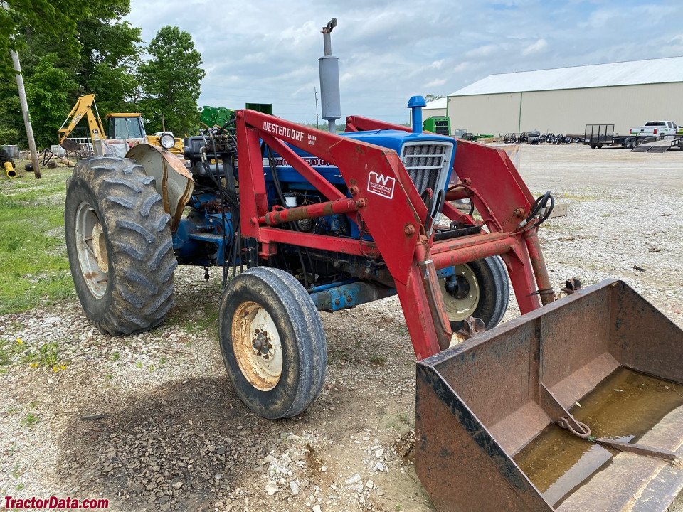 Ford 5000 with Westendorf front-end loader.