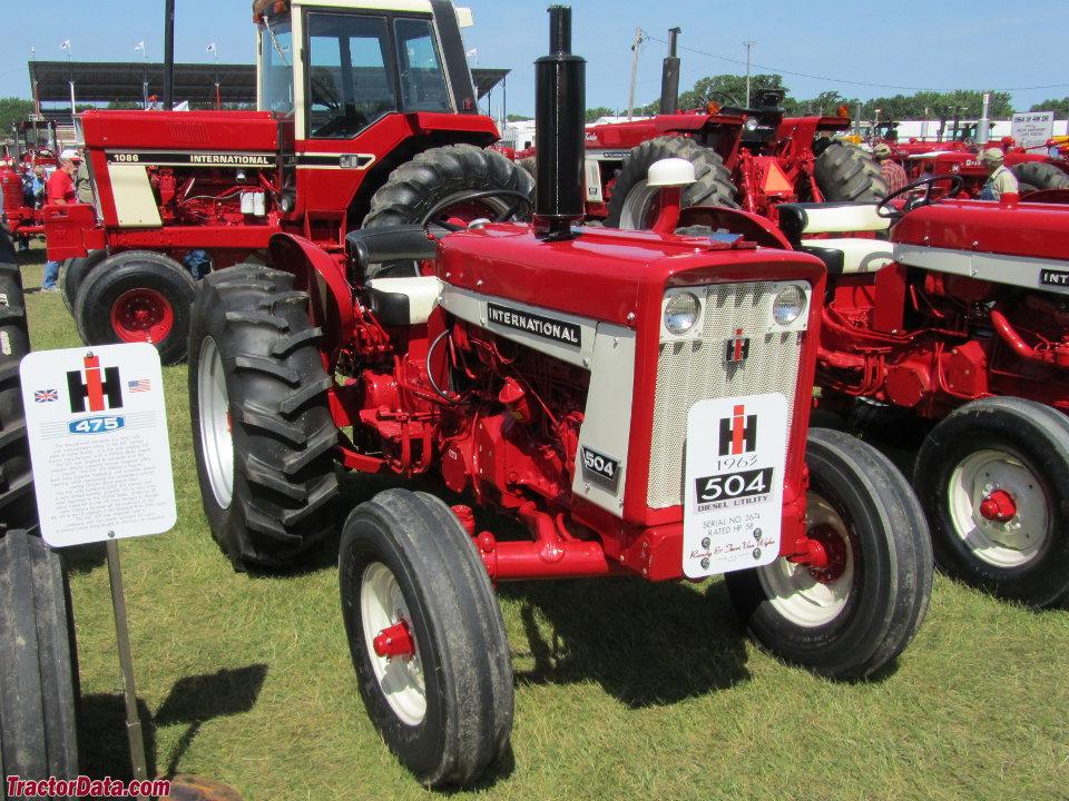 International Harvester 504 diesel utility.
