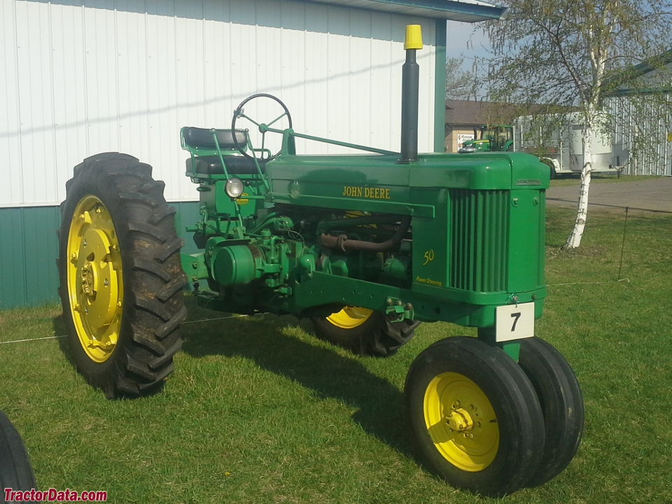 John Deere 50 with tricycle front end.