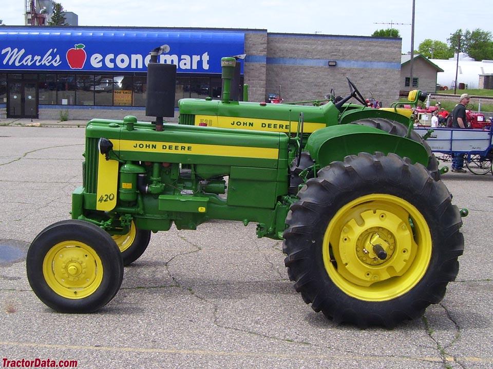 John Deere 420W row-crop utility.