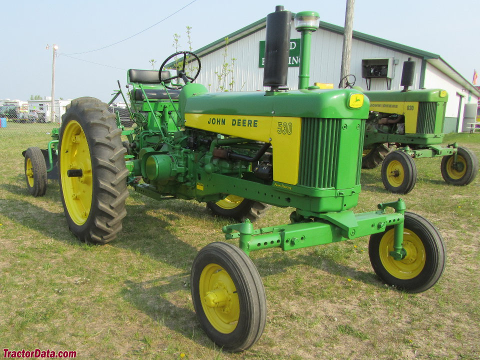 John Deere 530 with wide front end.