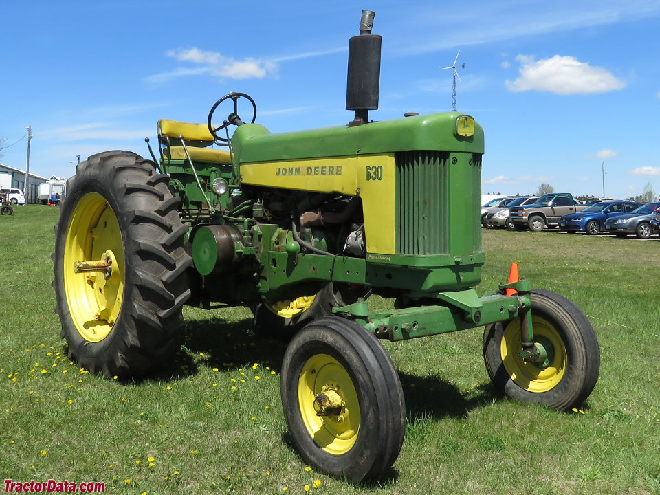 John Deere 630 with wide front end.