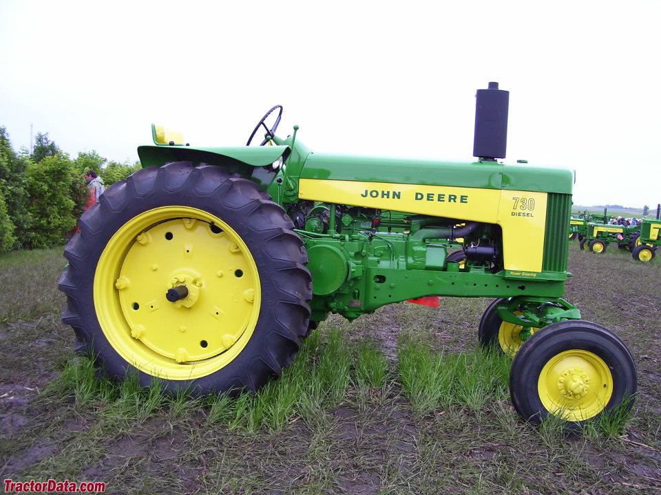 John Deere 730 diesel tractor.
