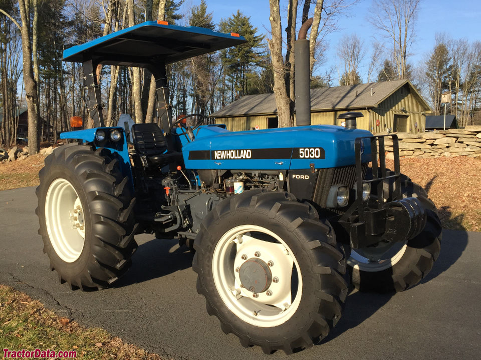 1997 New Holland-Ford model 5030 tractor with four-wheel drive.