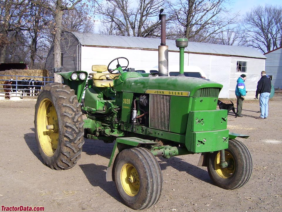 John Deere 3020 with wide front end.