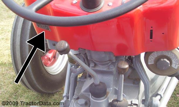 Massey Ferguson 135 Serial Plate