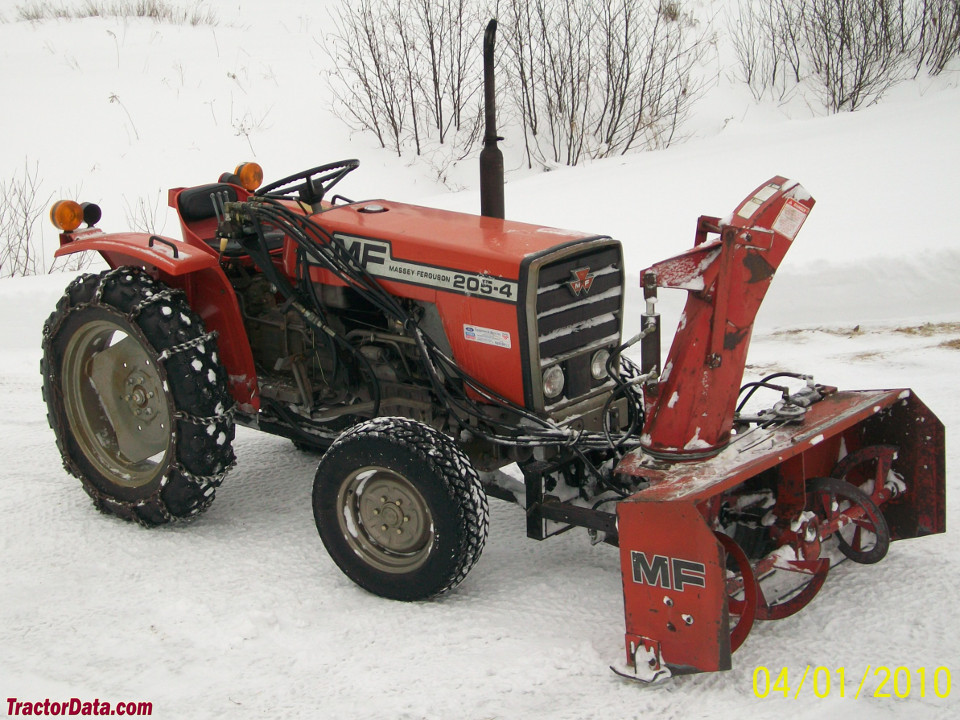 Massey Ferguson 205-4 with MF751 snowblower