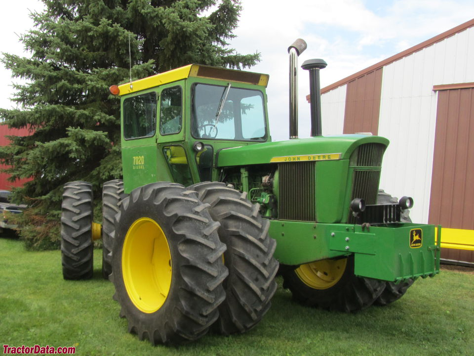 John Deere 7020 four-wheel drive tractor.