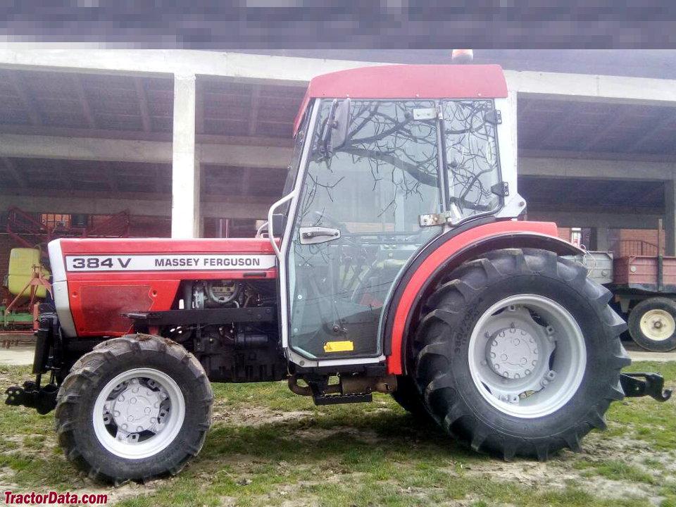 Massey Ferguson 384V, left side.