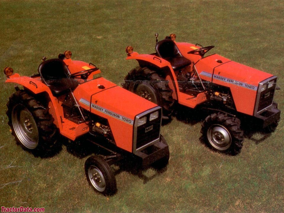 Massey Ferguson 1020 2WD and 4WD tractors.